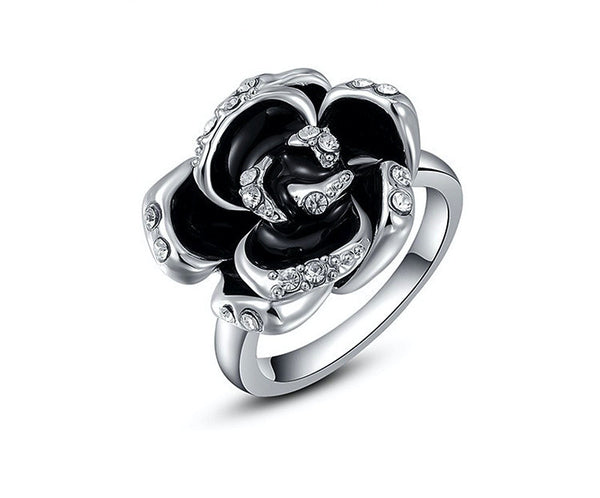 Platinum Plated Adeline Ring with Simulated Diamond