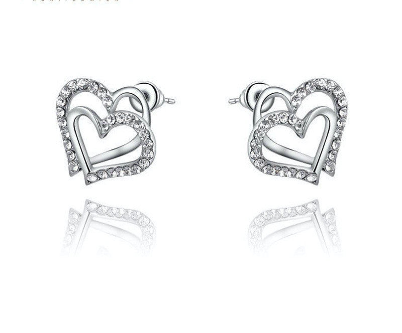 Platinum Plated Adelyn Earrings with Simulated Diamond