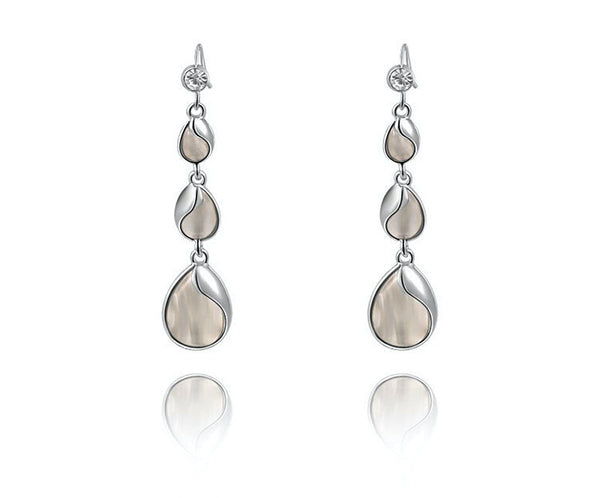 Platinum Plated Adelynn Earrings with Simulated Diamond