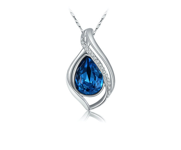 Platinum Plated Adrianna Necklace with Simulated Diamond