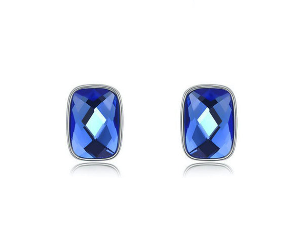 Platinum Plated Alivia Earrings with Simulated Diamond