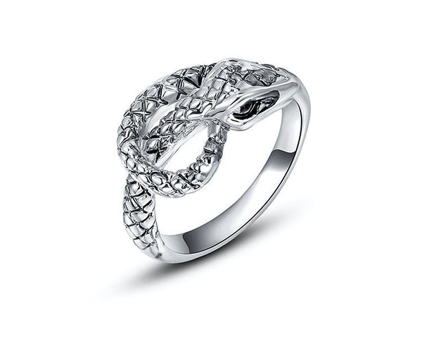 Platinum Plated Angel Ring with Simulated Diamond