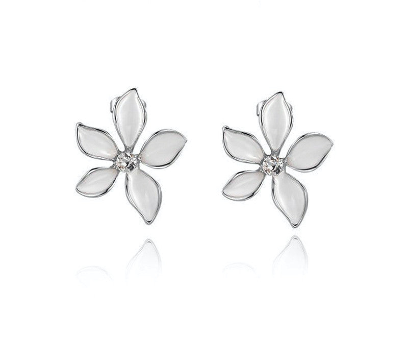 Platinum Plated Averie Earrings with Simulated Diamond