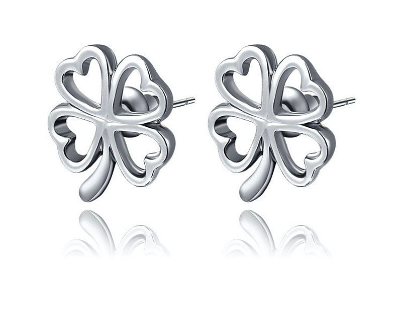 Platinum Plated Bella Earrings with Simulated Diamond