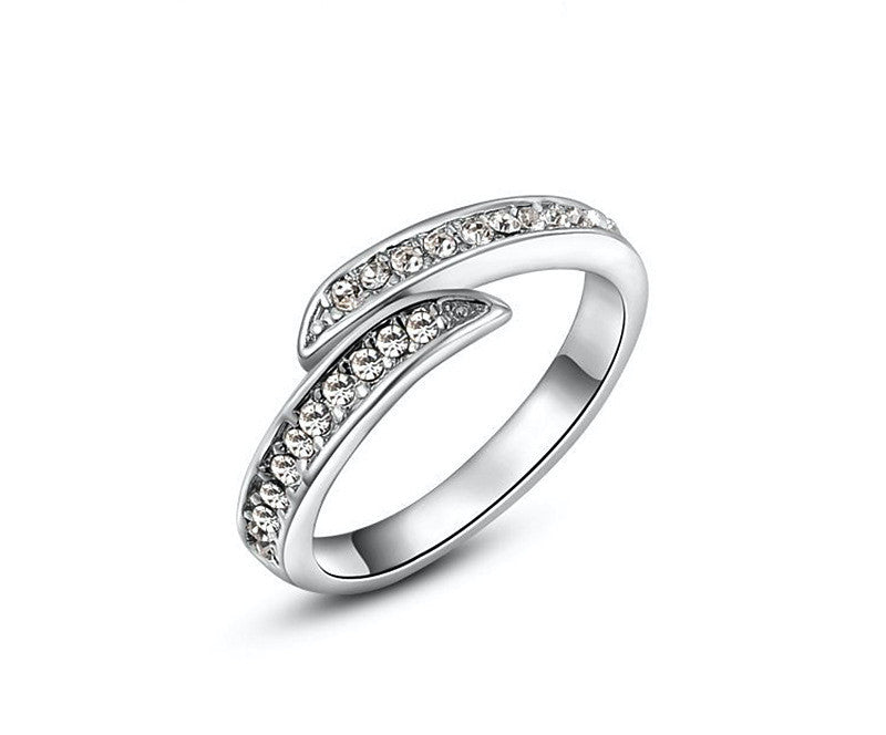Platinum Plated Bianca Ring with Simulated Diamond
