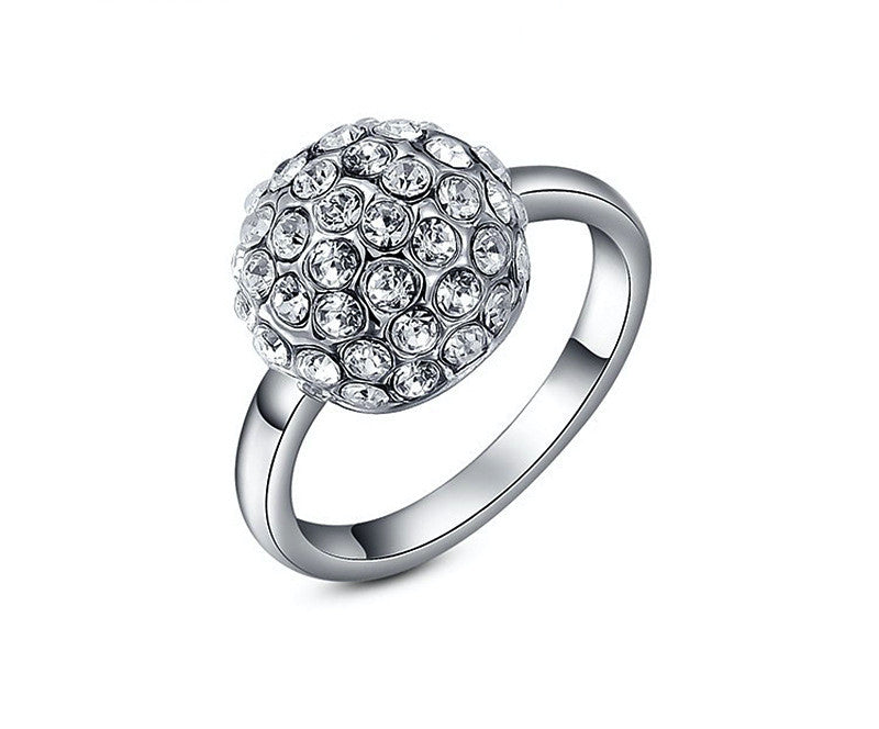 Platinum Plated Brielle Ring with Simulated Diamond