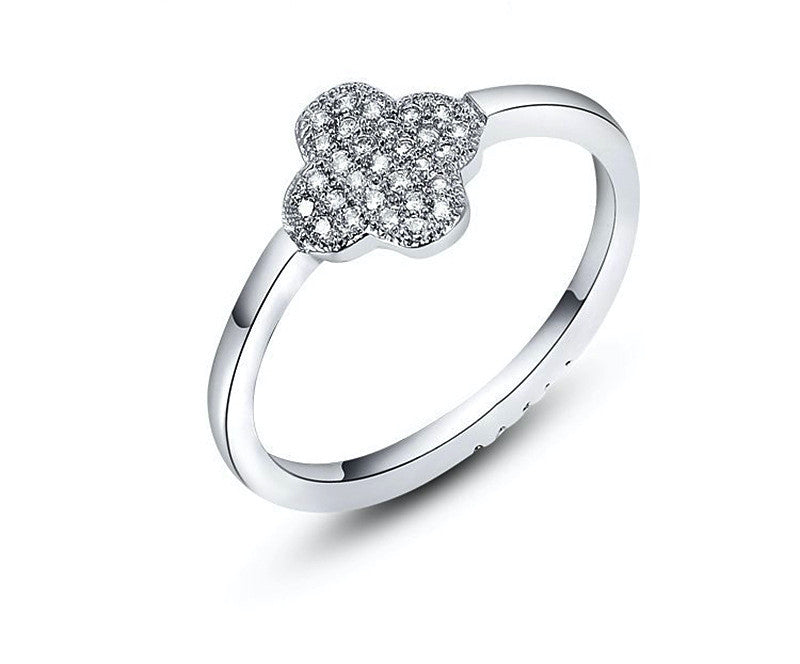 Platinum Plated Brynn Ring with Simulated Diamond