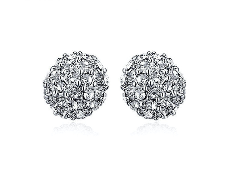 Platinum Plated Cassandra Earrings with Simulated Diamond