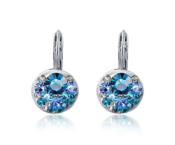 Platinum Plated Charlotte Earrings with Simulated Diamond