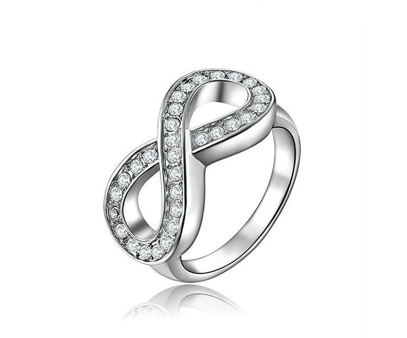 Platinum Plated Chelsea Ring with Simulated Diamond
