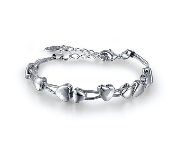 Platinum Plated Claire Bracelet with Simulated Diamond