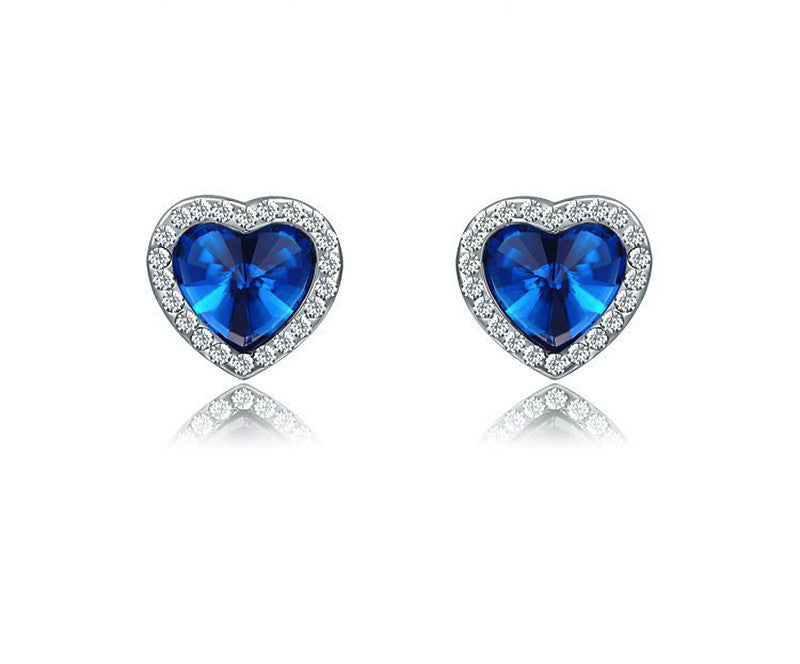 Platinum Plated Ember Earrings with Simulated Diamond