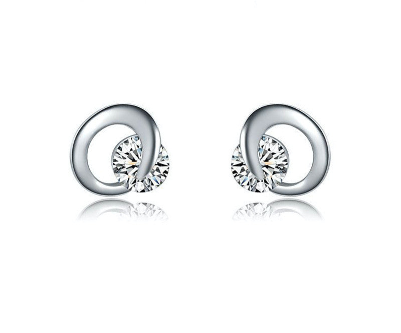 Platinum Plated Everly Earrings with Simulated Diamond
