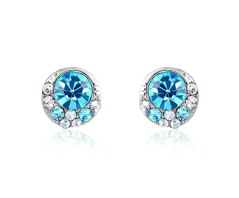 Platinum Plated Genesis Earrings with Simulated Diamond