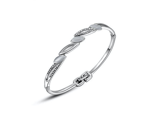 Platinum Plated Hadley Bracelet with Simulated Diamond