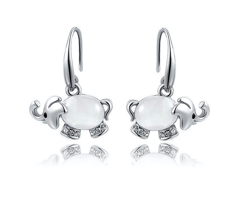 Platinum Plated Isabel Earrings with Simulated Diamond