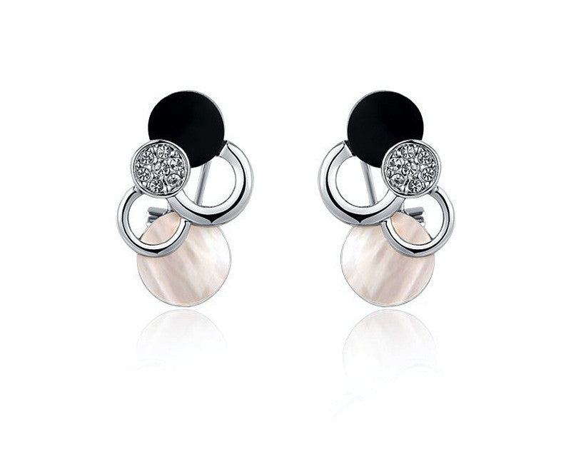 Platinum Plated Jayla Earrings with Simulated Diamond