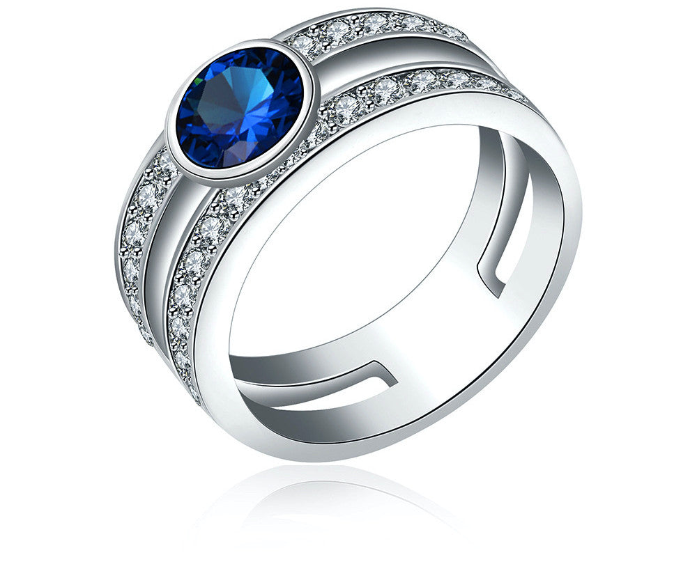 Platinum Plated Kaelyn Ring with Simulated Diamond