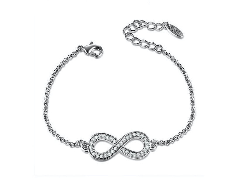 Platinum Plated Katherine Bracelet with Simulated Diamond