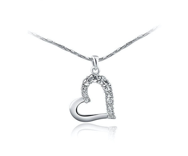 Platinum Plated Katherine Necklace with Simulated Diamond