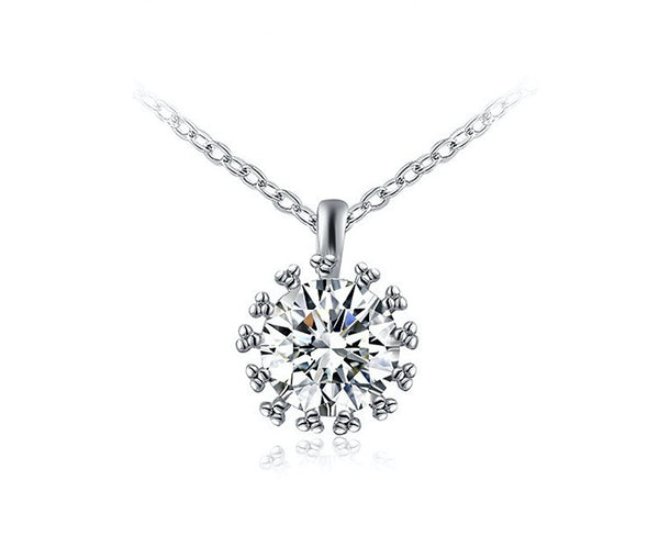 Platinum Plated Kylie Necklace with Simulated Diamond