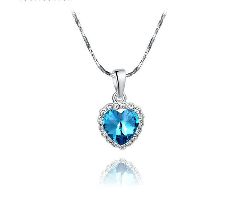 Platinum Plated Lucy Necklace with Simulated Diamond