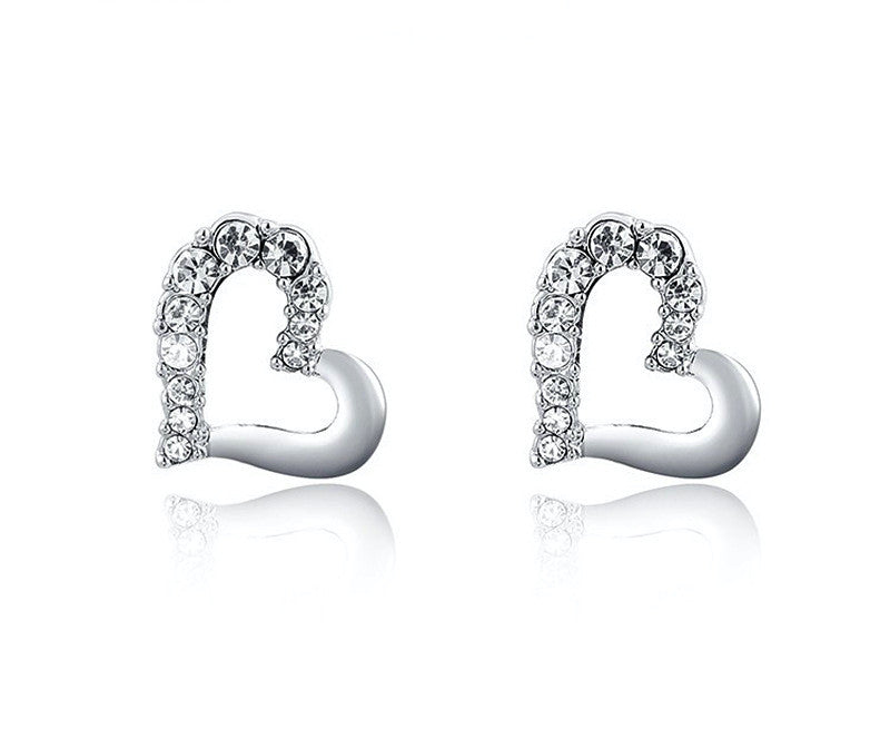 Platinum Plated Maci Earrings with Simulated Diamond
