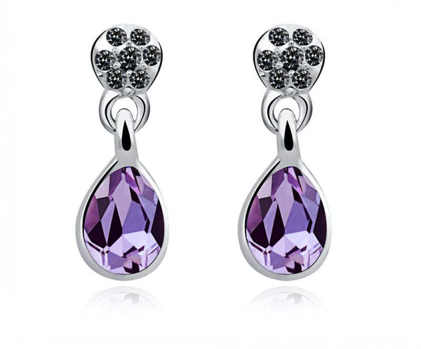 Platinum Plated Madilynn Earrings with Simulated Diamond