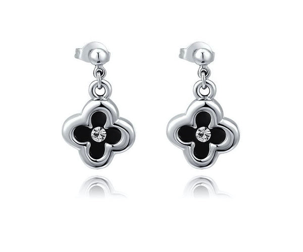 Platinum Plated Nia Earrings