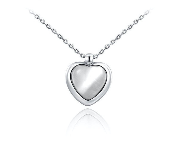 Platinum Plated Paislee Necklace with Simulated Diamond