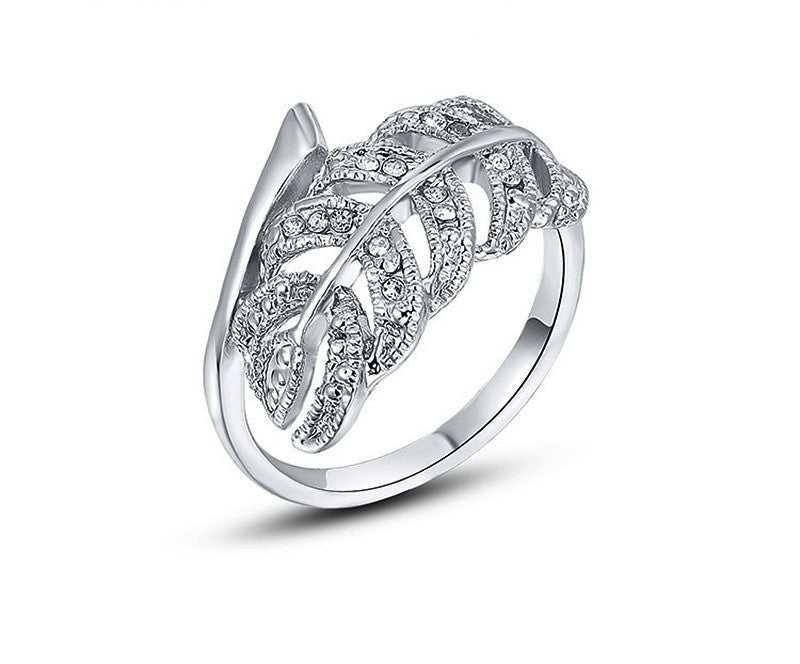 Platinum Plated Parker Ring with Simulated Diamond