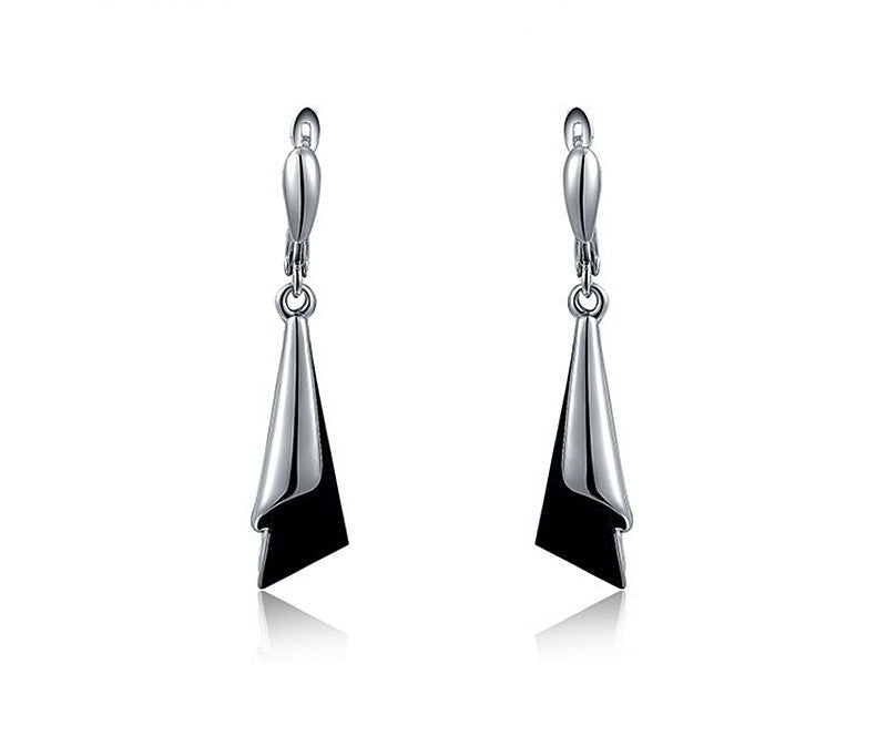 Platinum Plated Piper Earrings with Simulated Diamond