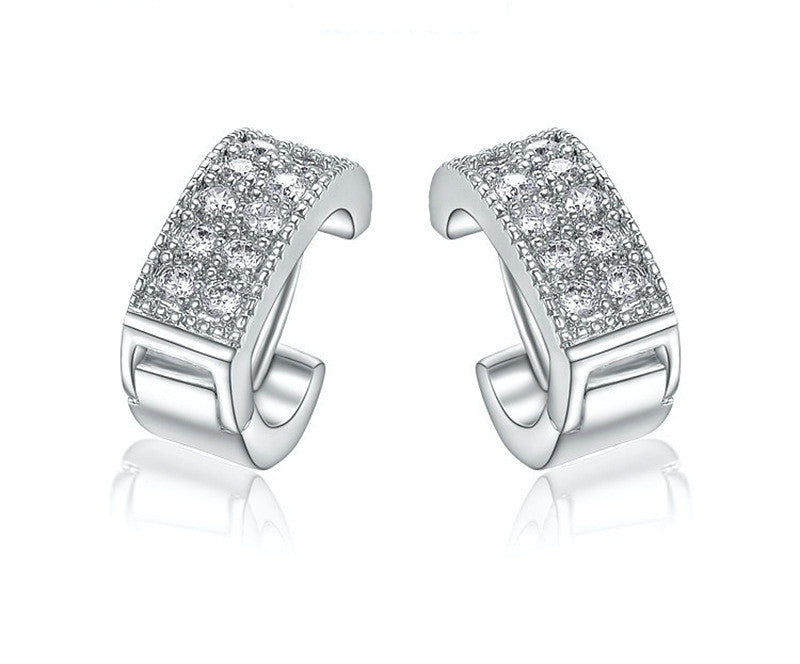 Platinum Plated Raegan Earrings with Simulated Diamond