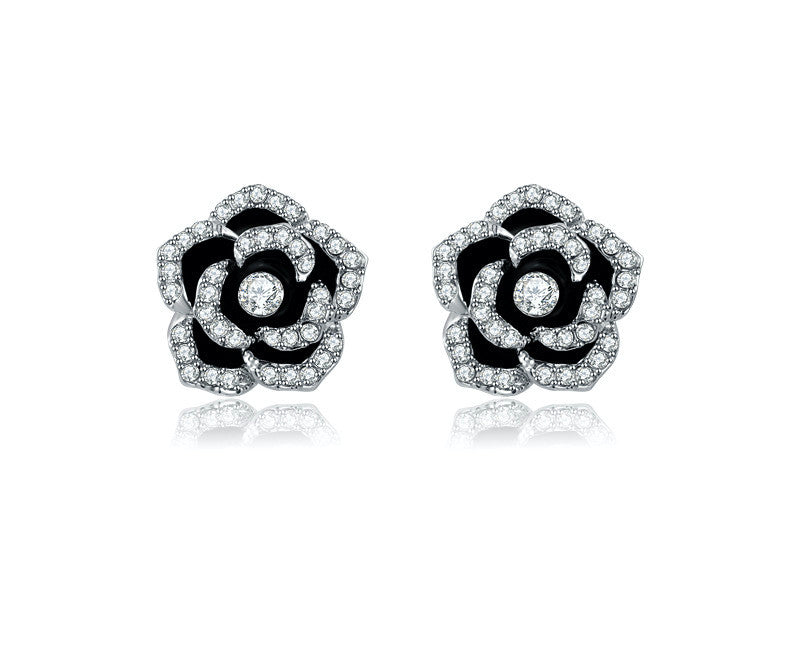 Platinum Plated Raelyn Earrings with Simulated Diamond