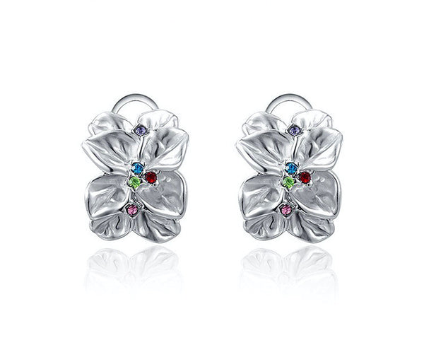Platinum Plated Raelynn Earrings with Simulated Diamond