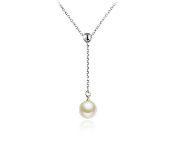 Platinum Plated Raelynn Necklace with Simulated Diamond
