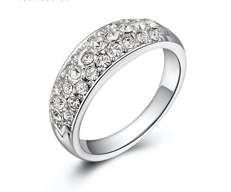 Platinum Plated Sophia Ring with Simulated Diamond