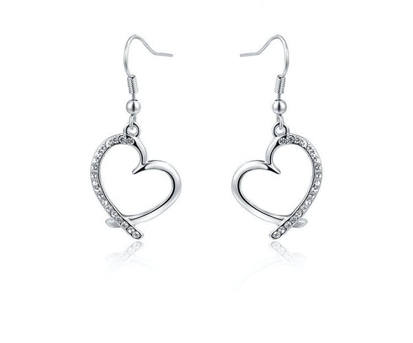 Platinum Plated Vera Earrings with Simulated Diamond