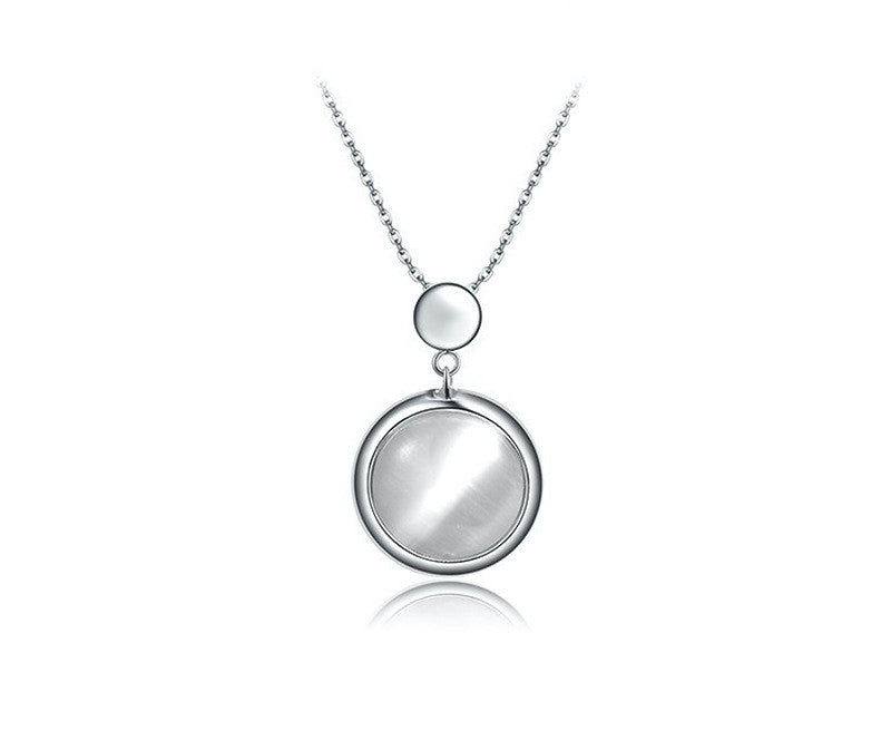 Platinum Plated Veronica Necklace with Simulated Diamond