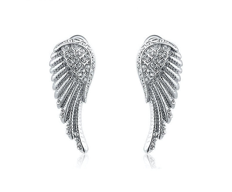 Platinum Plated Zoe Earrings with Simulated Diamond