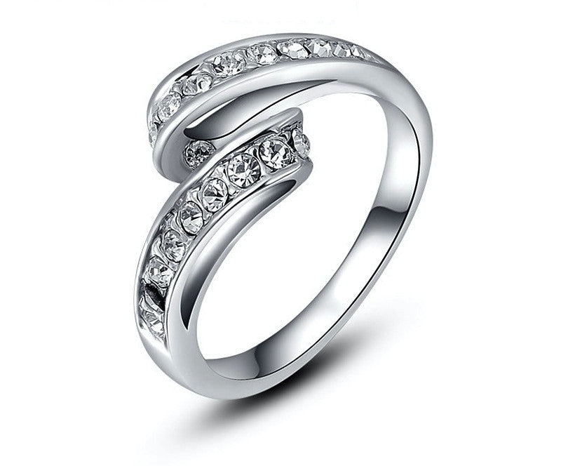 Platinum Plated Zoey Ring with Simulated Diamond