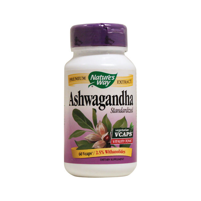 Nature's Way Ashwagandha Extract - 60 Vegetarian Capsules