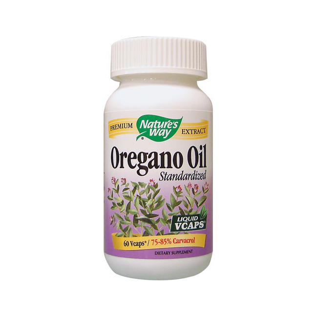 Nature's Way Oregano Oil Standardized Extract - 60 Liquid Vegetarian Capsules