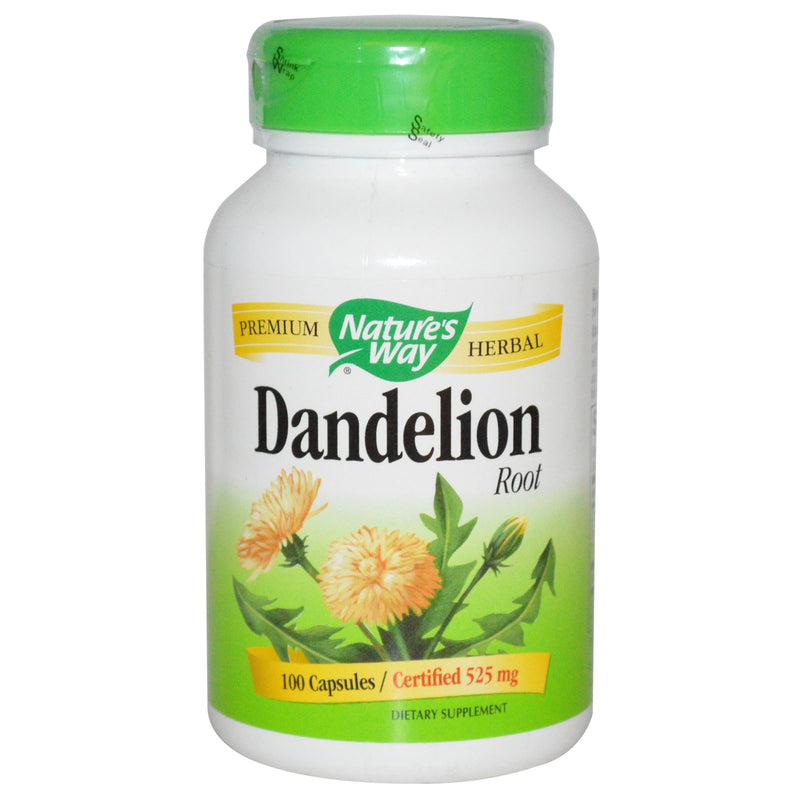 Nature's Way Dandelion Root 525mg - 100 Vegetarian Capsules