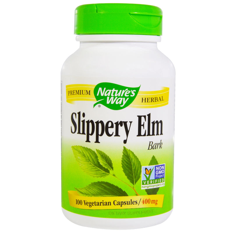 Nature's Way Slippery Elm Bark 400mg - 100 Vegetarian Capsules