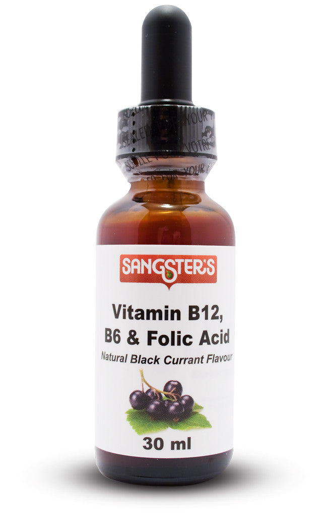 Sangster's Vitamin B12, B6 & Folic Acid Liquid 30ml - EXPIRY JULY 2019