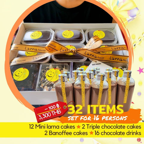 party set delicious cake and chocolate drink delivery in thailand