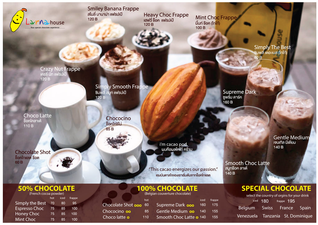 100% chocolate drink menu larnahouse