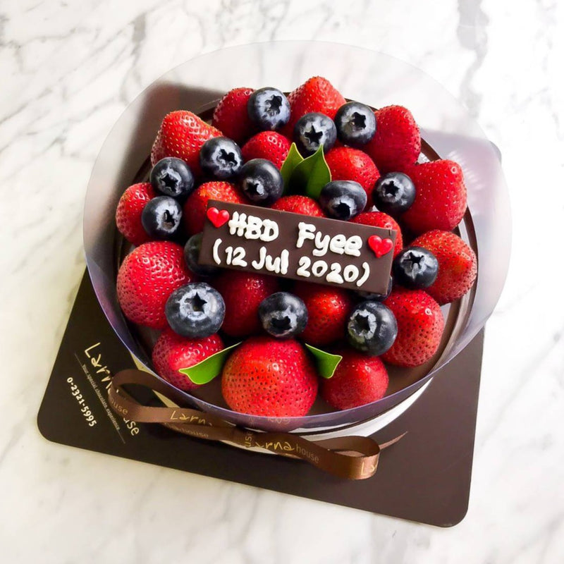 Strawberry Blueberry on Triple Chocolate Mousse