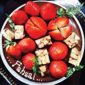 Strawberry Brownie Blossom Larna cake (Big size)